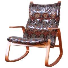 Ingmar Relling for Westnofa Scandinavian Modern Bentwood Teak Rocking Chair