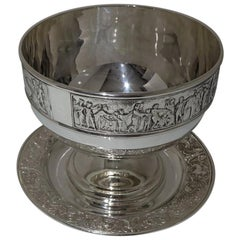 19th Century Victorian Silver-Plate Rose Bowl on Stand, circa 1890 Walker & Hall