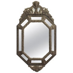 Hammered Bronze Mirror, Italy, circa 1870