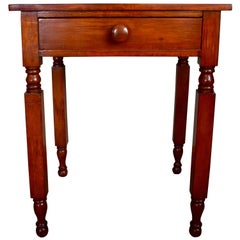 Empire One Drawer Stand in Cherry and Pine, circa 1820 Upstate, NY