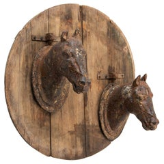 Cast Iron Horse Stable Sign, France, circa 1800