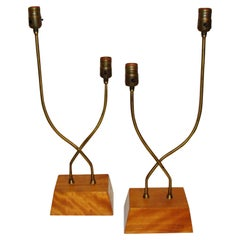 Unusual Pair of Heifetz Table Lamps