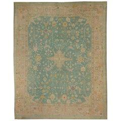Turkish Oushak Rug Carpet, circa 1890