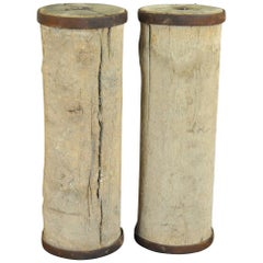 Pair of French 19th Century Agricultural Elements, Pedestals