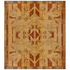 Vintage French Art Deco Carpet