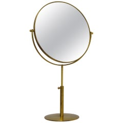 Scandinavian Modern Vanity Brass Mirror