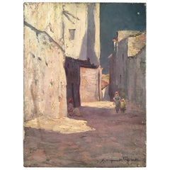 Orientalist Painting, Street Scene, Xavier Desparmet Fitzgerald
