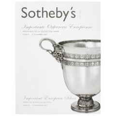 """Sotheby's Geneva, Important European Silver From the Diane Collection"", Book"