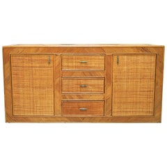 Superb Sideboard in Rattan at the Beginning of the 1970s