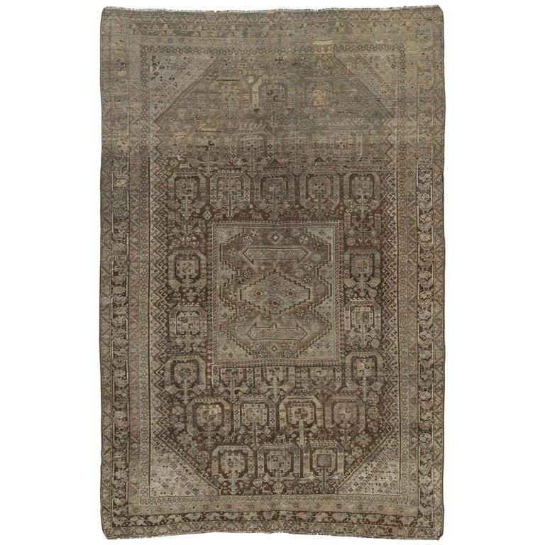 Antique Persian Shiraz Rug For Sale