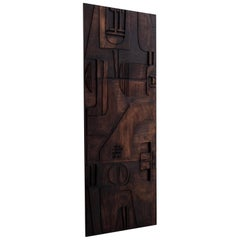 Extra Large Abstract Wooden Artwork by Nerone & Patuzzi / Gruppo NP2