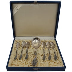 Early 20th Century Norwegian Silver Spoons by Thorvald Marthinsen Sølvvarefabrik