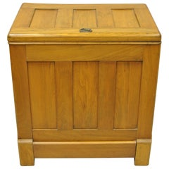 Antique Gibson Refrigerator Co. Small Oak Icebox Ice Chest