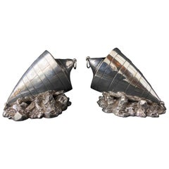 Pair of Victorian Sheffield Silverplate Spoon Warmers by Atkin Brothers, Buoy