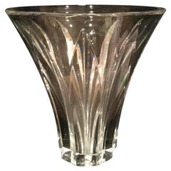 French Heavy Cut Crystal Vase by Baccarat in the Brigitte Pattern
