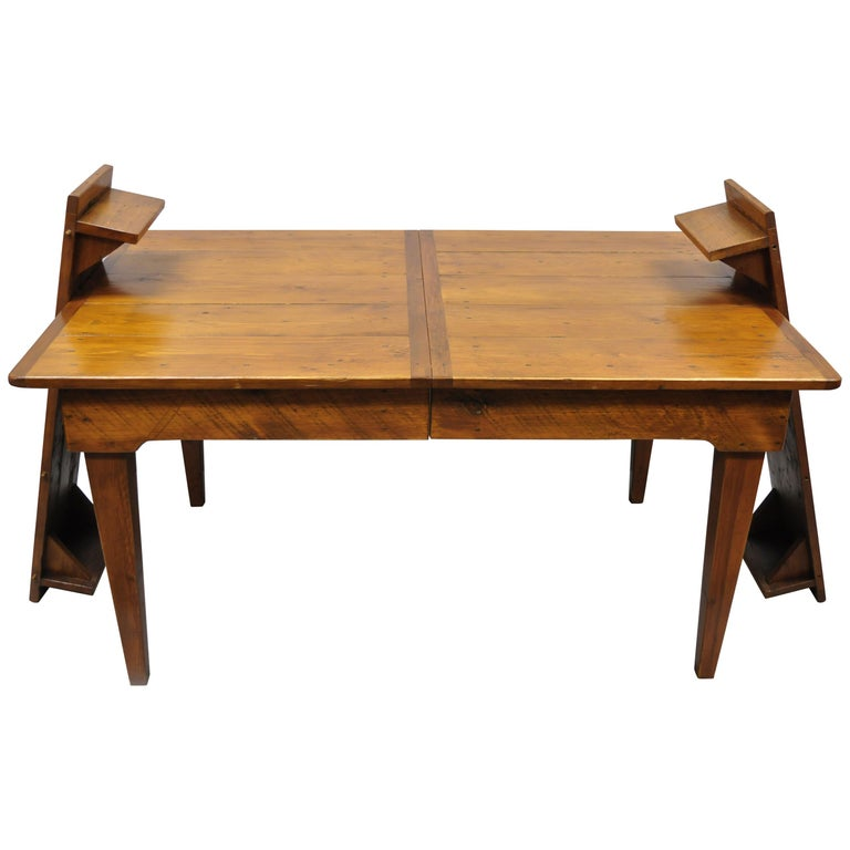 Farmhouse Kitchen Table With Drawers: French Provincial Country Farmhouse Dining Farm Table 2