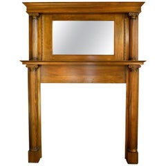 Maple Mantel with Mirror