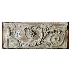 Late 18th Century Neoclassical Pine and Gesso Panel