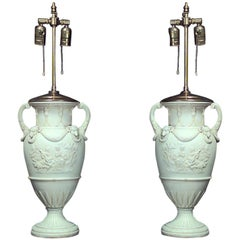 Pair of French Louis XVI Style Urn Shaped Table Lamps