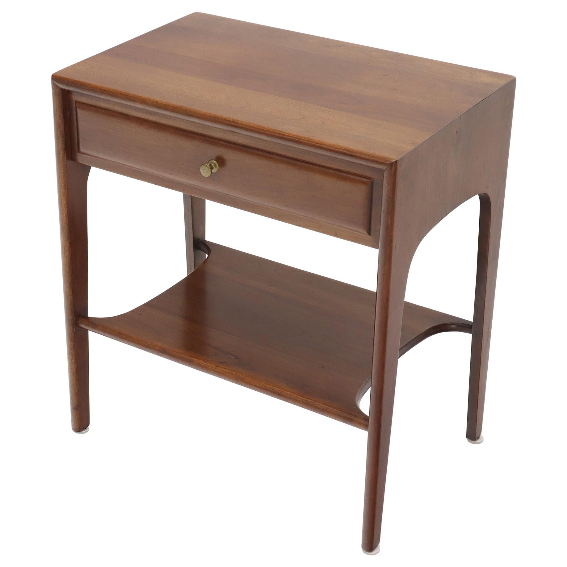 Solid Cherry One Drawer End Table Nightstand Mid Century Modern