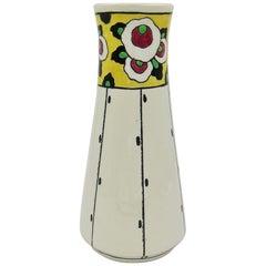 Boch Freres La Louvière Hand Painted Art Deco Vase