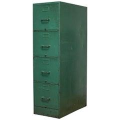Vintage Metal Filing Cabinet, circa 1940-1950