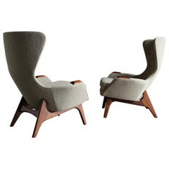 Adrian Pearsall Wing High Back Chairs for Craft Associates