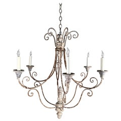 French Country 6-Arm Chandelier