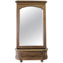 Early 20th Century Italian Trumeau Mirror with Planter Stand