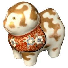 Japanese Meiji Period Kutani Standing Kitten