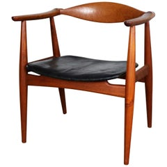 Hans Wegner Teak CH 35 Chair for Carl Hansen & Son Vintage Scandinavian Modern