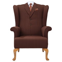 Midcentury Wingback Armchair 'The Great Gatsby' Wing Chair Bespoke