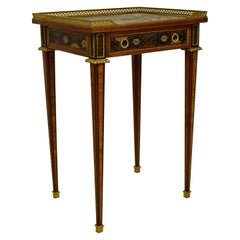Chinoiserie Lacquered Wood France Louis XVI Small Table, Early 19th Century