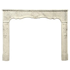 18th Century French Régence Fireplace Mantel