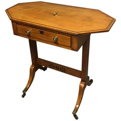 Regency Period Satinwood Inlaid Occasional Table with a Drawer