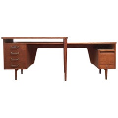 Original Midcentury Office Desk from 1950s