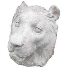 "Ernestine Sirine-Real ""Lioness's Head"", Plaster, circa 1930"