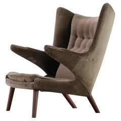 Hans J. Wegner 1951 Papa Bear Easy Chair by AP Stolen Model AP90, 1st Edition
