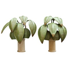 Pair of Coconut Trees Wall Sconces, style of Mario Lopez Torres