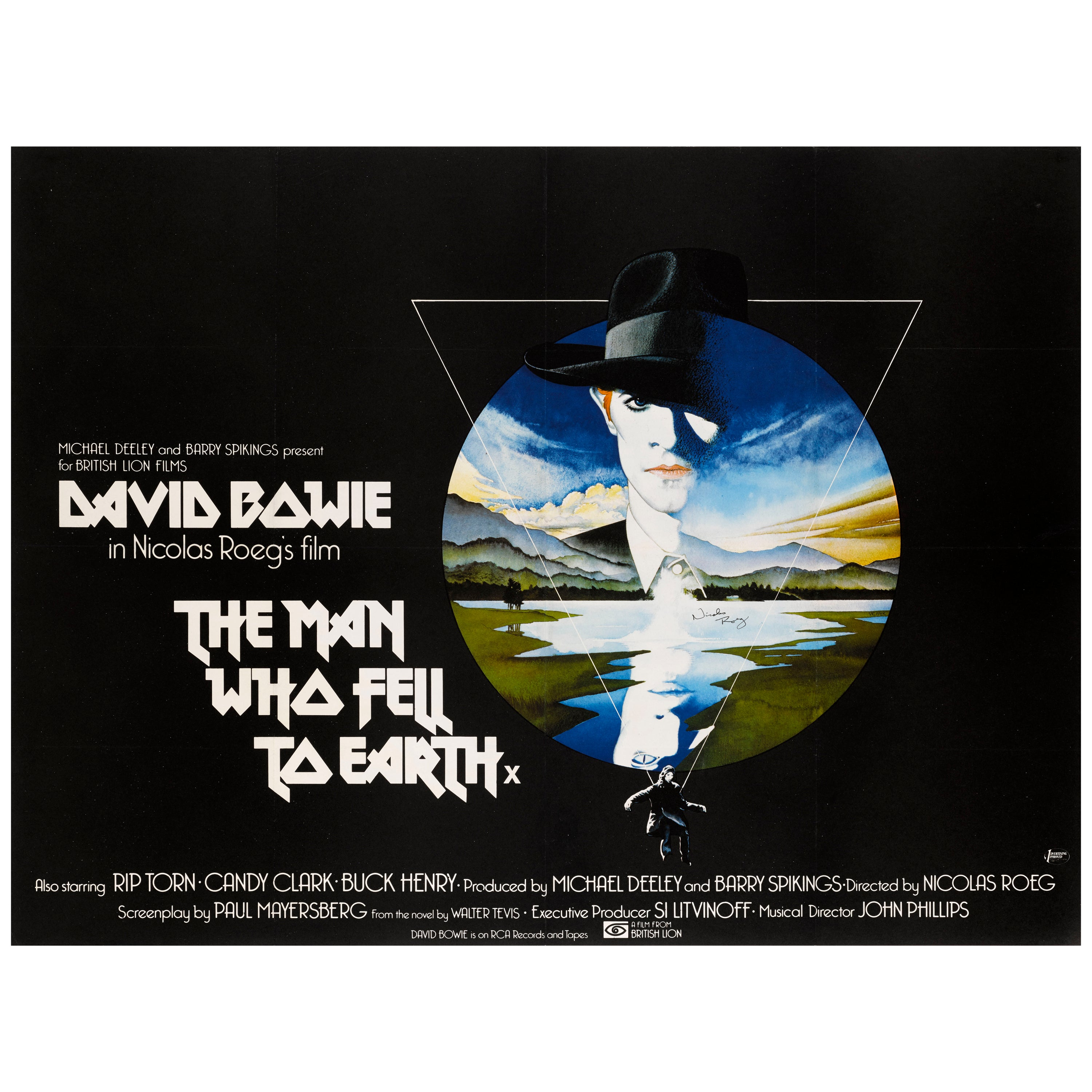 """""""The Man Who Fell to Earth"""" Original British Movie Poster"""
