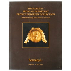 Sotheby's London, Highlights from an Important Private European Collection