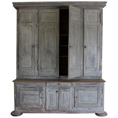 18th Century French Cupboard in Original Paint