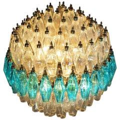 Spherical Murano Poliedri Candelier Carlo Scarpa Style, Murano