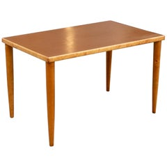 Bespoke Vintage Ilmari Tapiovaari 1950s Birch & Linoleum Top Desk by Laukaan Puu