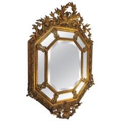19th Century, French Louis XV Octagonal Mirror