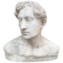 "Ernestine Sirine-Real ""Romantique Art Deco"" Bust of a Man"", Plaster"