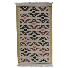 Native American Indian Navajo Style Area Rug, Stylized Eagles, 20th Century