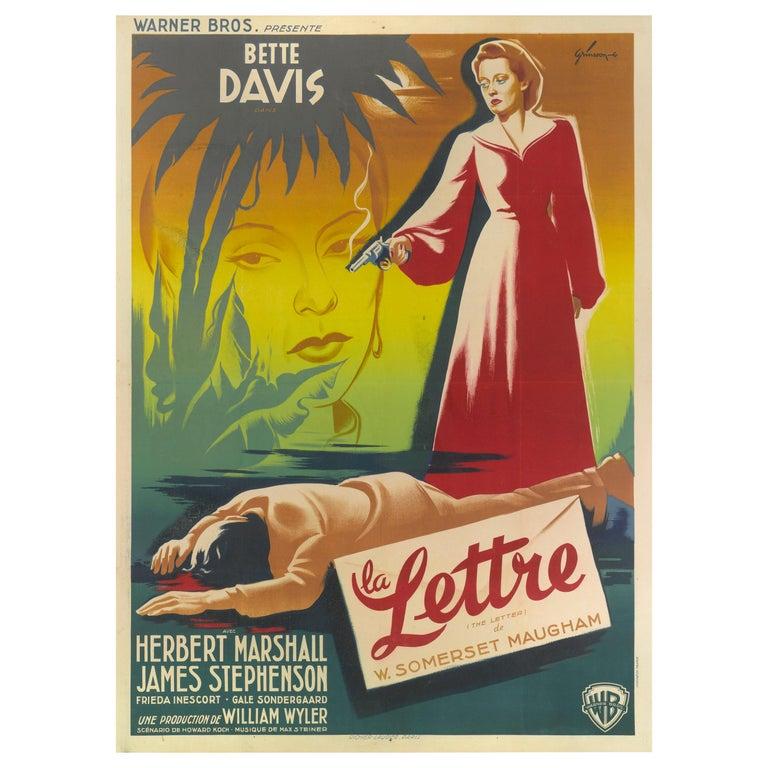 """Letter / La Lettre"" Original French Film Poster For Sale"