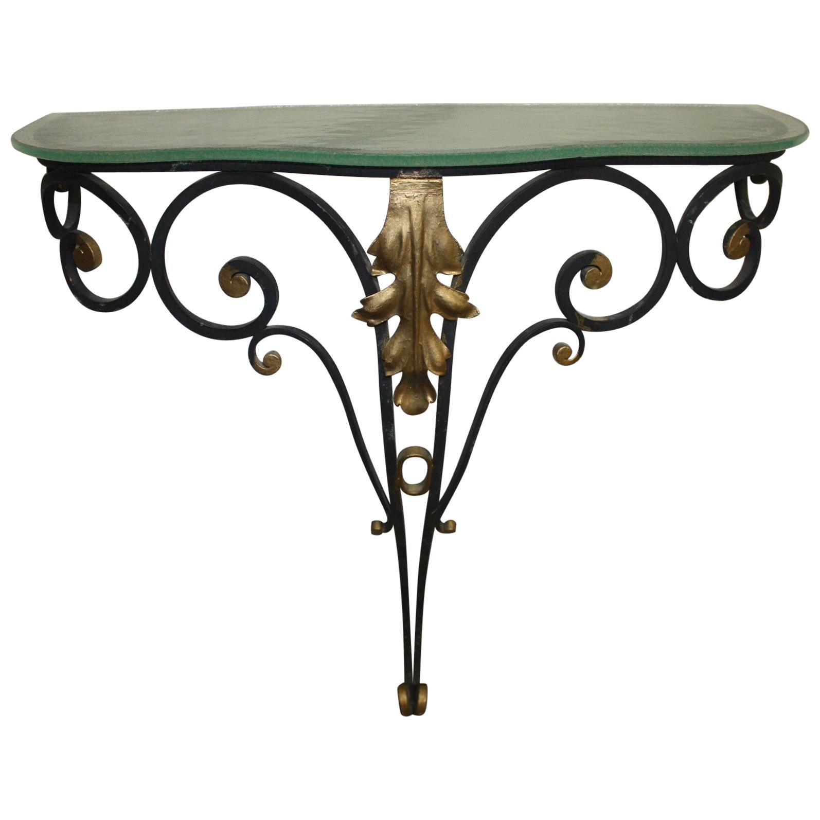 Charming Early 20th Century Iron Console