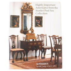 Sotheby's; Highly Important Americana from the Stanley Paul Sax Collection